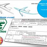 online flight event